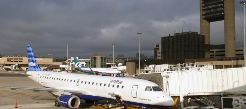 Logan International Airport Jet Blue Boston